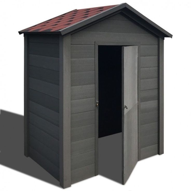 Garden House Shed Storage Outdoors Patio Weather Resistant Modern Home Grey Red #GardenHouseShed