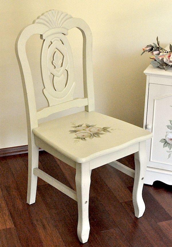 Krzesło w stylu biedermeier - Kolekcja Różana / Romantic Chair of the Rose Collection