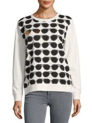 KARL LAGERFELD Allover Sunglass Sweatshirt. #karllagerfeld #cloth #