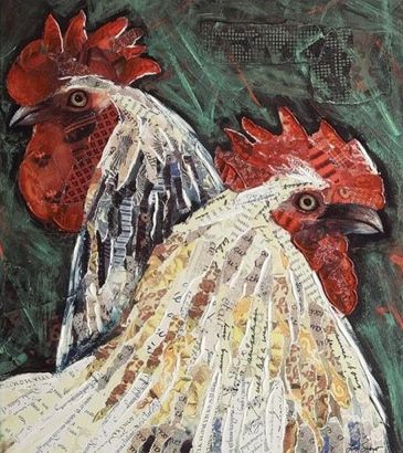 Farm Animal Home Decor Large Rooster Canvas Wall Decor