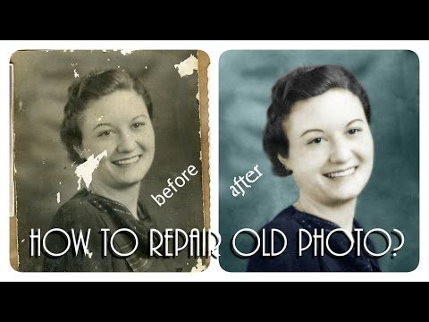Damage photo repair-Old photo repair in Photoshop-Restore old photos-Old photo restoration Tutorial - YouTube