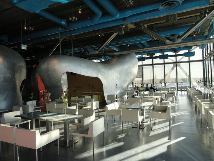 #Restaurant Georges on the top of the Centre Georges ...
