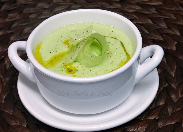 Crema de pepino, aguacate y yogur - Mis Cosillas de Cocina