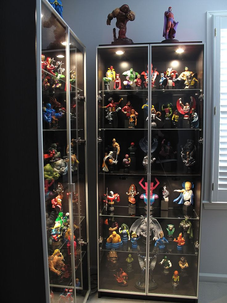 Action Figure Display For The Home Pinterest Ikea Billy Bookcase With Glass Doors And Glasses