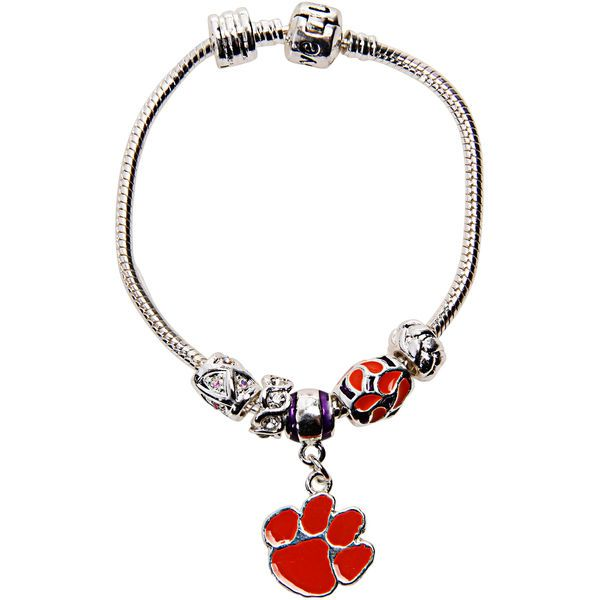 Clemson Tigers Women's Beaded Bracelet - $17.99