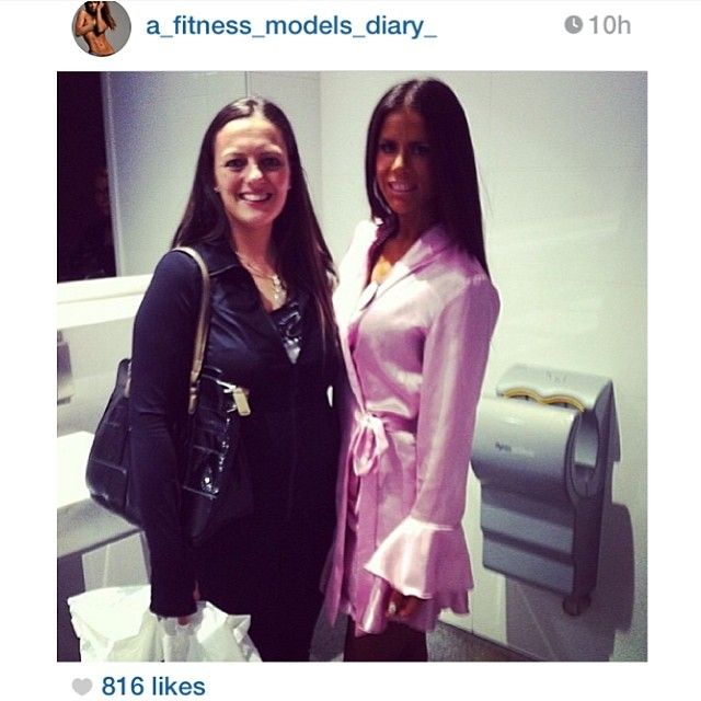 Sophie Guidolin - Fitness model sensation - Expert Trainer wearing her Cherish Her Kiss robe pictured with a fan whilst about to compete in her fitness competition. Instagram: sophie_guidolin Order yours today: https://www.facebook.com/youngladybridalwear
