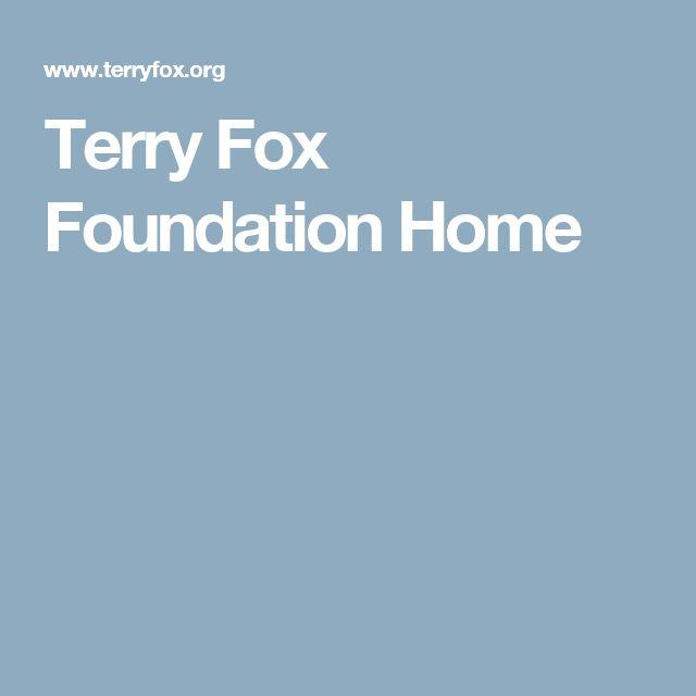 Terry Fox Foundation Home