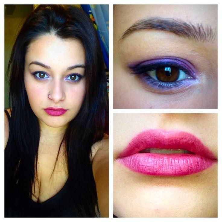 Electric purple make up