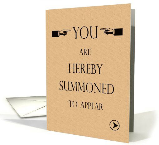 Law School Graduation Party Invite You Are Summoned Card Law