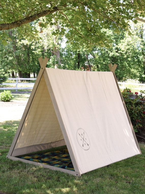 Made from 100% American Grown Hemlock, these charming play tents will provide hours of fun for children and adults alike. At six feet long and over
