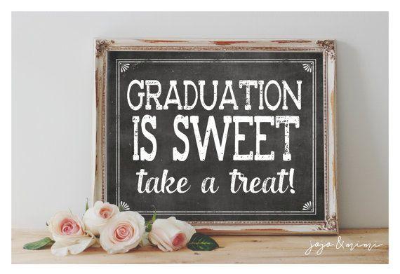 Instant 'Graduation is Sweet take a treat'  Printable by JoJoMiMi