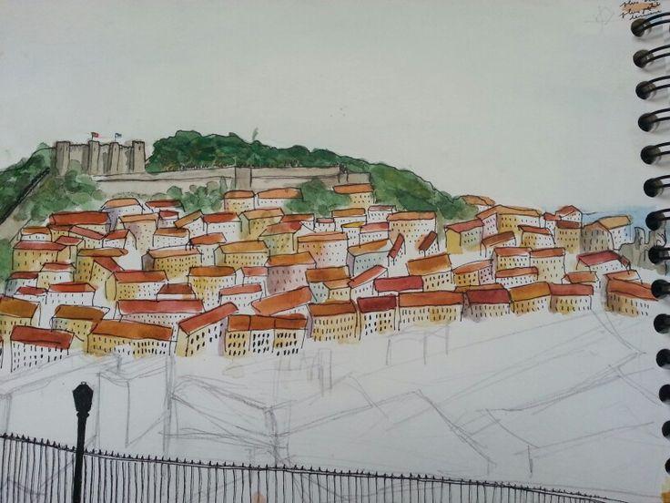 Lisbonne j5 - ce qui est le plus éloigné est censé être gris bleu leger à se confondre !!!!