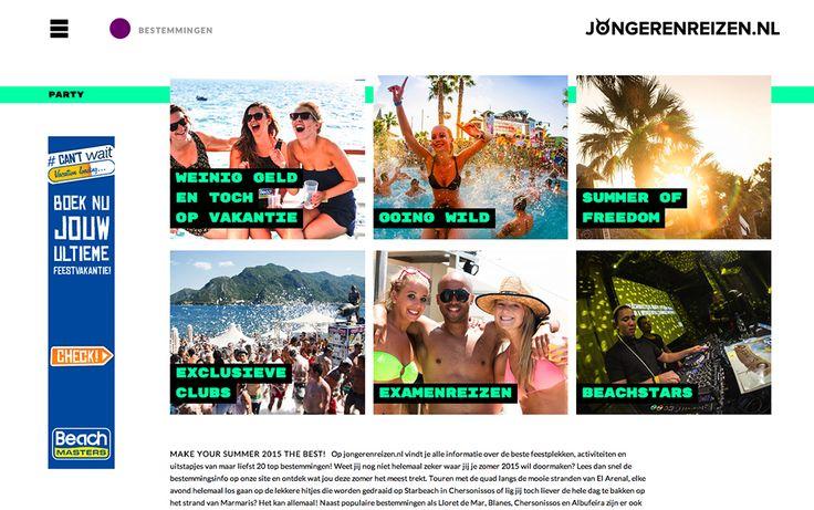 Jongerenreizen - Website