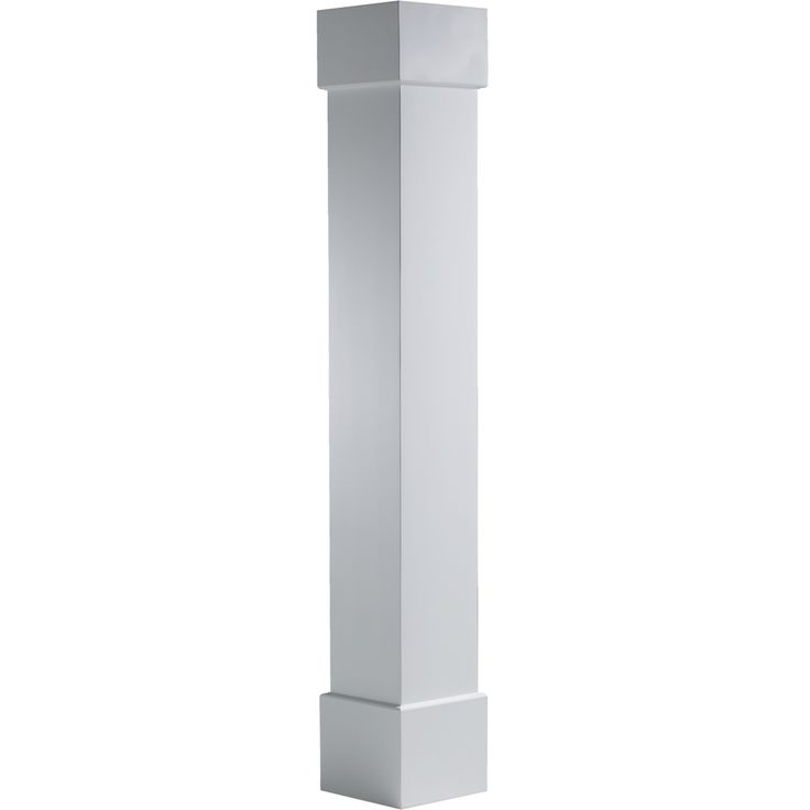 Shop turncraft 8 in x 8 ft pvc craftsman column at lowes for 10 foot porch columns