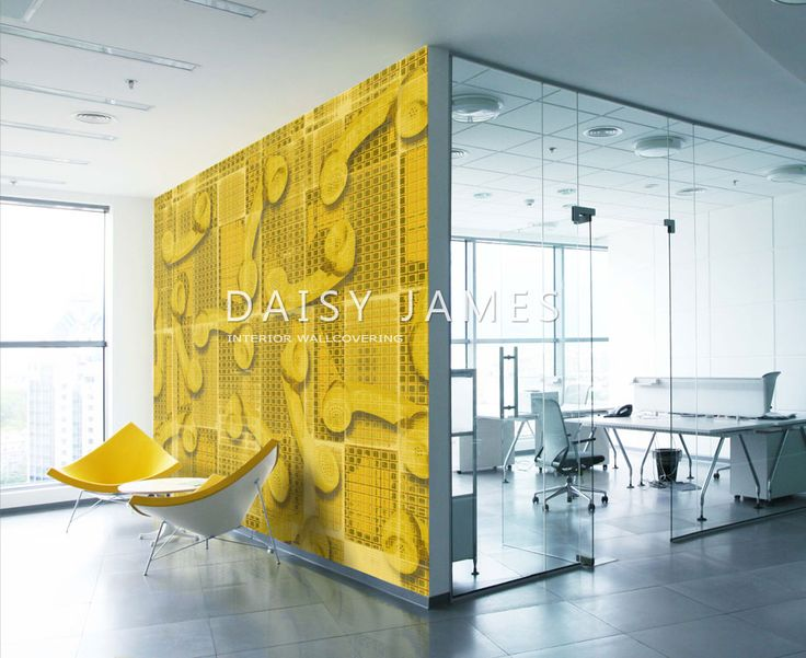 DAISY JAMES wallcover Yellow Telephone