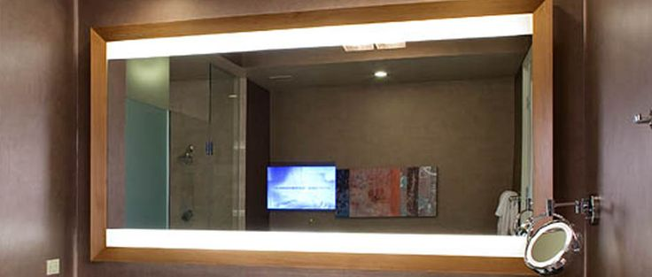 Lighted Vanity Mirror With Tv : Celebration Lighted Mirror TV by Electric Mirror master bath vanity ideas Pinterest ...