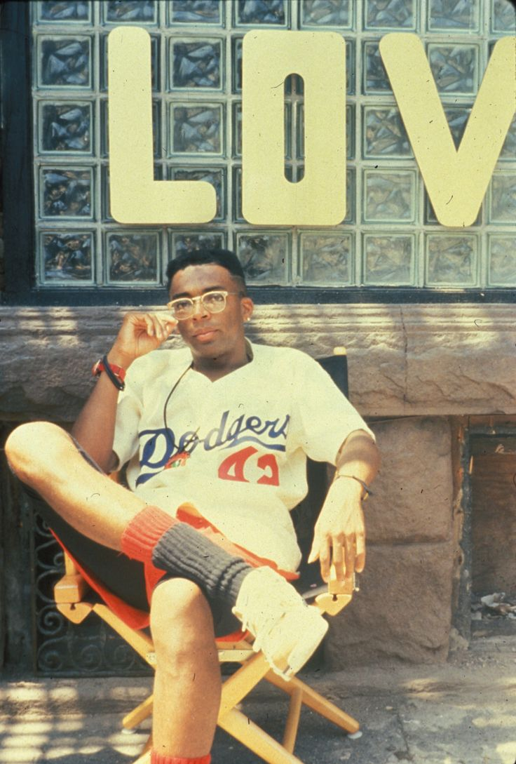 "Spike Lee - undoubtedly on the set of ""Do the Right Thing."" Great flick. Great, serious look at what seems to be a permanent and unchanging reality."