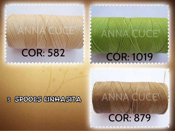3 bobine filo cerato LINHASITA 1 mm di spessore filo di AnnaCuce