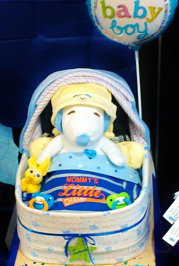 Baby Shower Decorations Snoopy ~ Snoopy diaper cake for baby boy luv avenue
