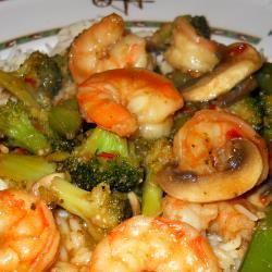 Easy stir fry prawns and vegetables