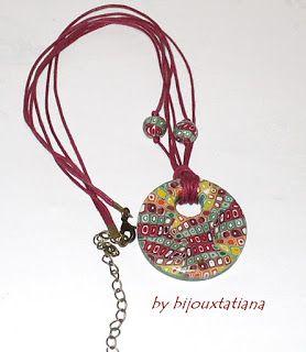 Fii unica purtand o bijuterie unicat!: COD MUL 000 Pandantiv multicolor realizat din fimo...