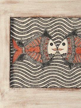 Fish Hand-Painted Madhubani