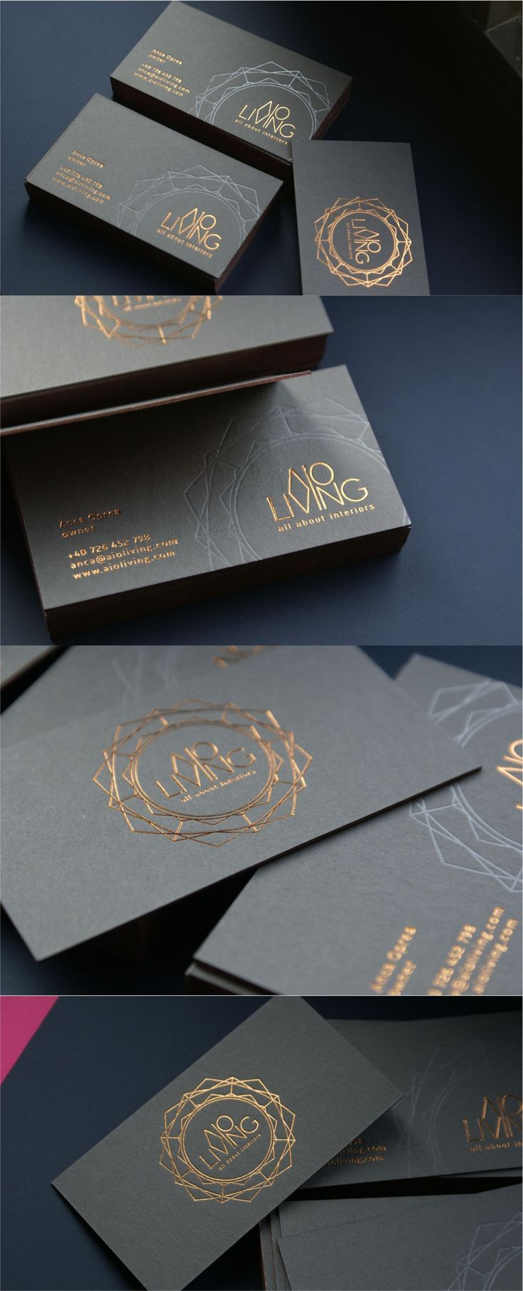 Luxury Business Cards With Copper Foil And Deboss Luxury Business Cards Visiting Card Design Business Card Maker