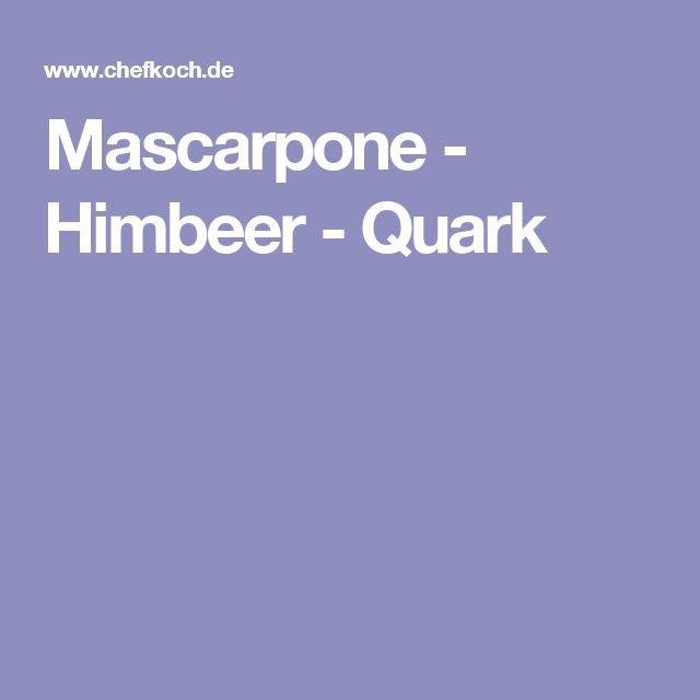 Mascarpone - Himbeer - Quark