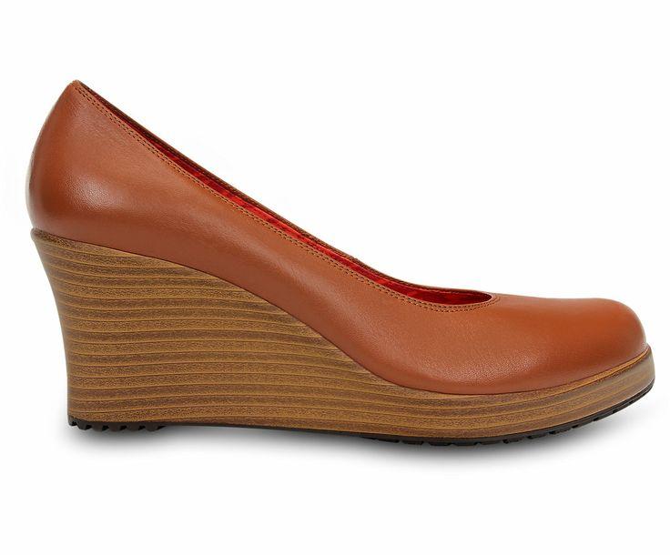 Women's A-leigh Closed-toe Wedge | Women's Comfortable Wedges | Crocs. $70 in Cinnamon/Walnut.