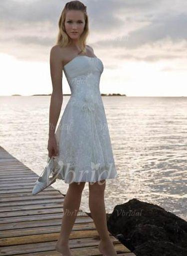 24 best Knee-Length Wedding Dresses images on Pinterest | Short ...