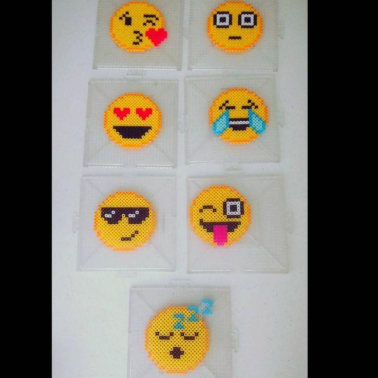 Emojis perler beads by  sensation_creations
