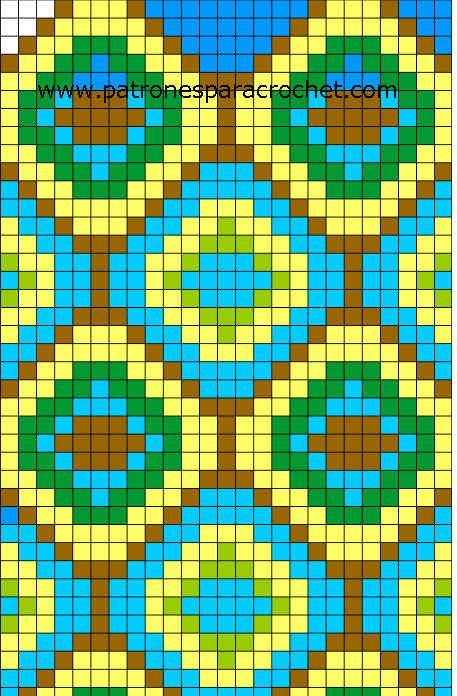 tecnica tapestry - patron para tejer mochila wayuu