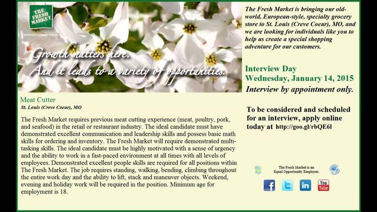 Fresh Grocer Job Positions