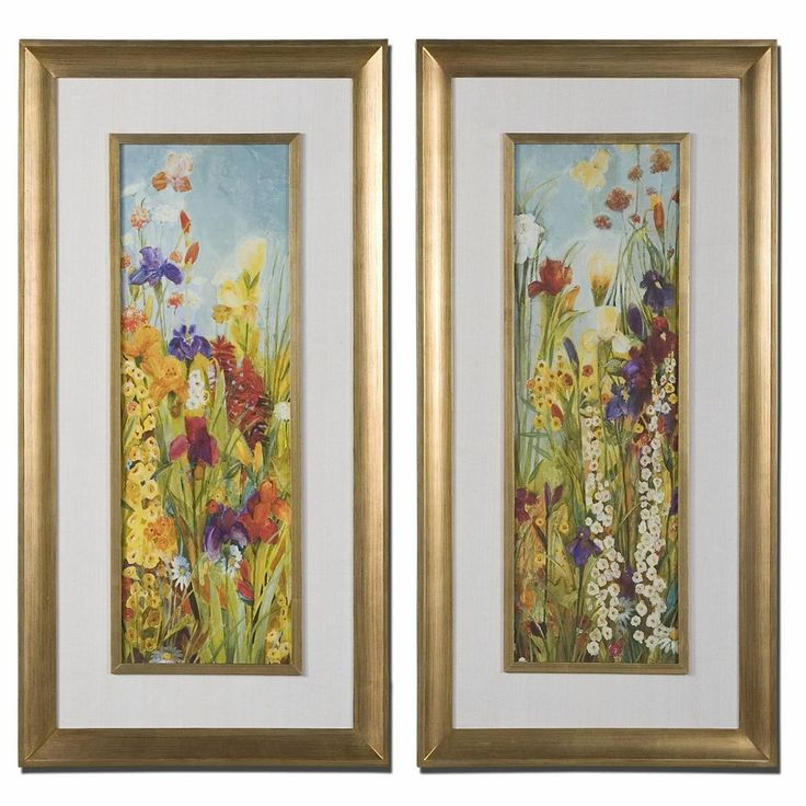 437 80 uttermost merriment floral art set of 2