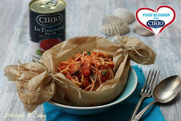 Ricetta Spaghetti al cartoccio con frutti di mare | Cirio