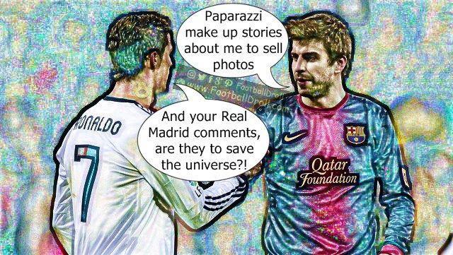 Gerard Piqué Says Paparazzi Fabricate Stories about Him to Sell Photos #Ronaldo #Piqué #Messi #Bale #Málaga #ElClasico #RealMadrid #Barcelona #HalaMadrid #FCBLive #ForçaBarça #LaLiga #CR7 #CL #Suarez #Neymar #Madrid #Barça #FCBarcelona #Pique #Jokes #Comic #Laughter #Laugh #Football #FootballDroll #Funny