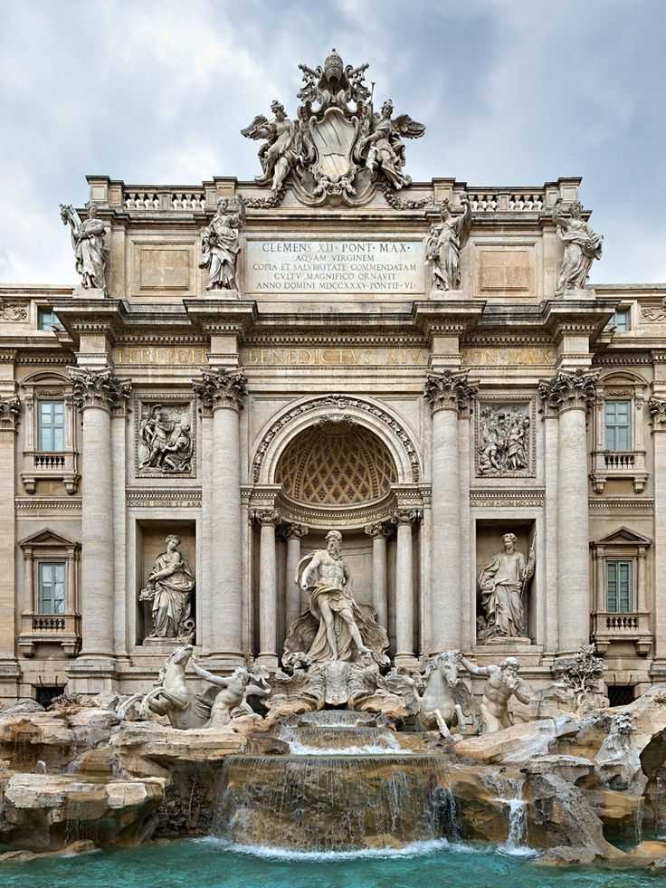 Trevi Fountain, Rome  If you have never seen this, pictures do not do it justice. It is HUGE! Also, it is located off the beaten path so you have to walk to it.  It is fabulous tho.