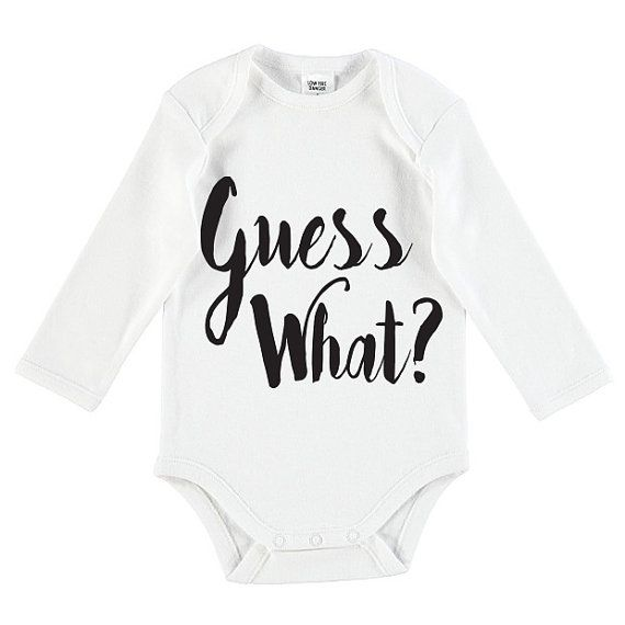 Guess What Pregnancy Announcement Onesie by TheUniqueCo on Etsy