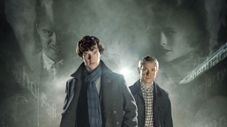 Benedict Cumberbatch, Martin Freeman, Sherlock, tv show wallpaper