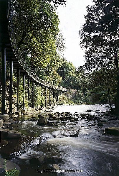 This is the Millennium Walkway,in Derbyshire, England. Built in 2000 its not for the faint-hearted, as just a handrail separates you from the rushing waters of the River Goyt