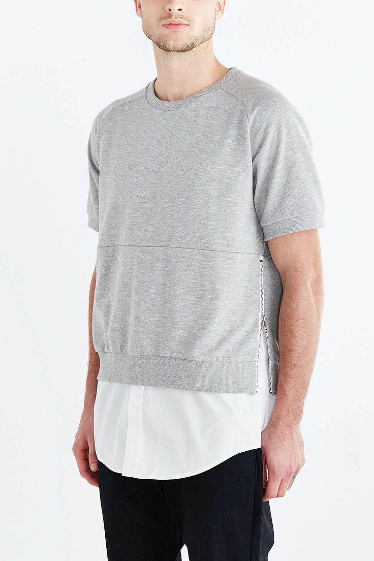 Shades Of Grey By Micah Cohen Short-Sleeve Sweatshirt - Urban Outfitters