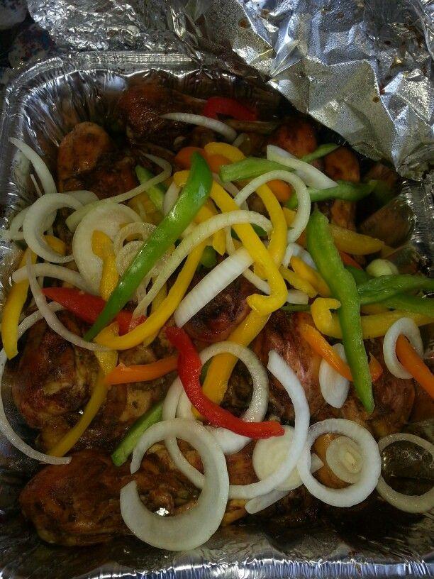 Haitian spicy jerk chicken yummy