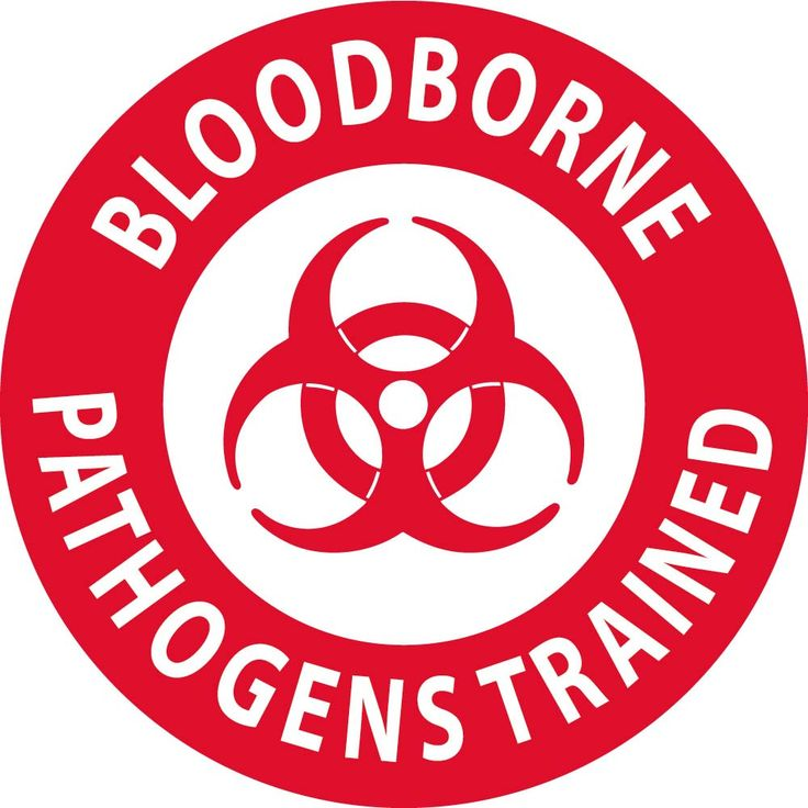 "Bloodborne Pathogens Trained ( With Graphic) | 2"" Circle 