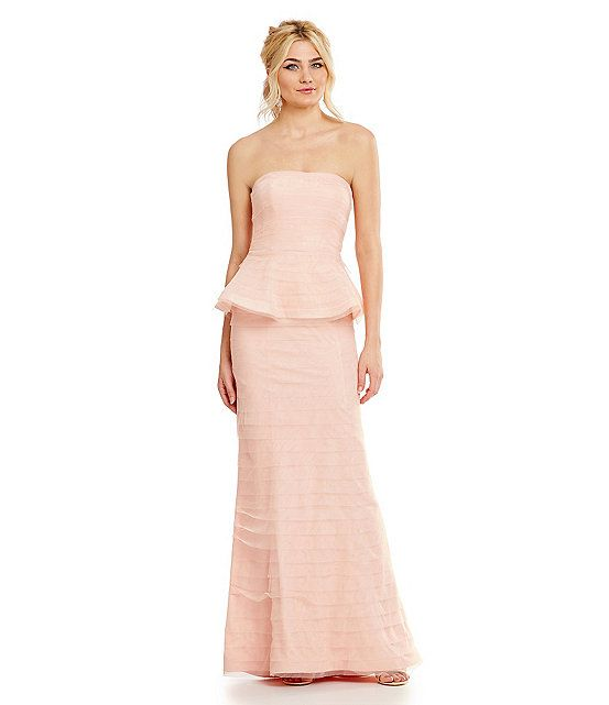 164 best Adrianna Papell One Shoulder & Strapless Gowns images on ...