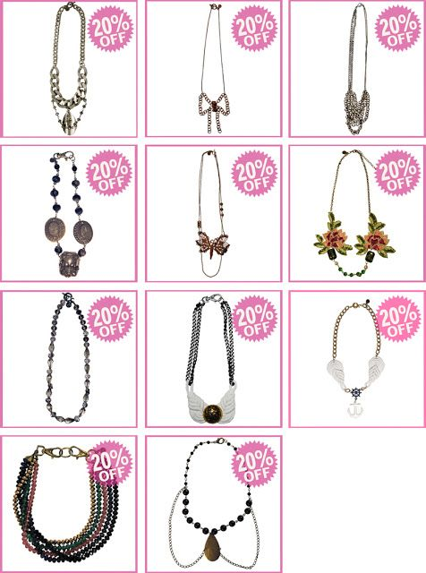 necklace on sale off
