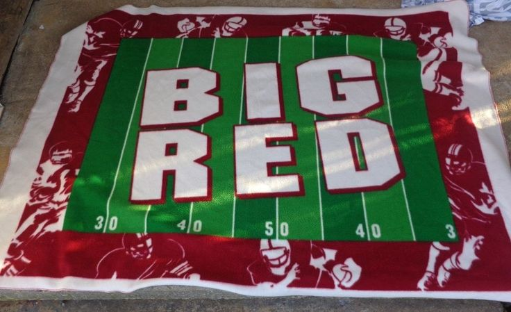 big red blanket 45 by 60 ncaa nfl football