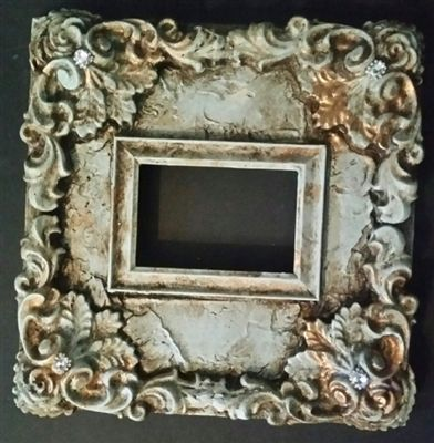 Michelle Butler Designs Ornate Leaf 14x14 Table Top Heirloom Picture Frame SHOP www.crownjewel.design