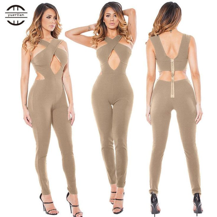 Yel Hot Sexy Girls Backless Playsuit Fitness Tights Jumpsuits Costume Yoga Sport Suit One Piece Bodysuit Gym Tracksuit For Women
