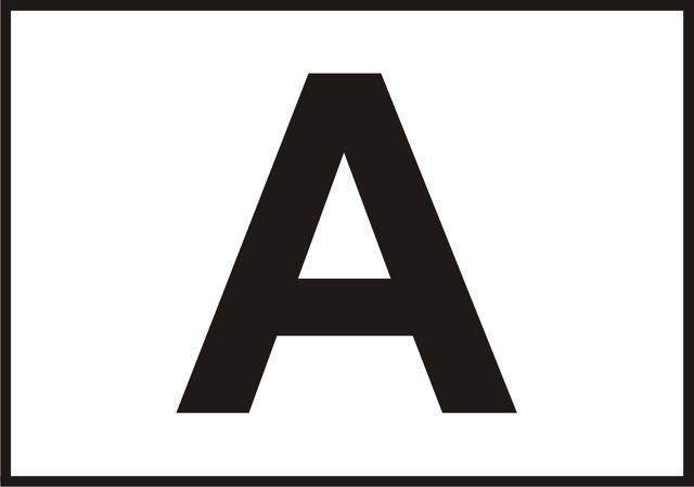 Naklejka A. Oznaczenie określa ( na białym tle czarna litera A ), że pojazd tak oznakowany jest przygotowany do transportu śmieci i odpadków.