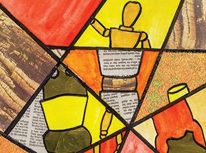 "St. Columba's College, Essendon Create Collage ""Fractured Realities"""